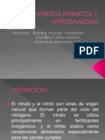 Nitritos Nitratos y Nitrosamidas