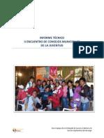 Informe II Encuentro Nacional de Consejos Municipales de la Juventud