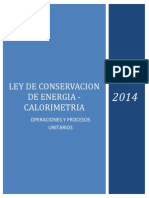 Ley de Conservación de Energía – Calorímetro