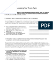 Assessing Your Topic Handout