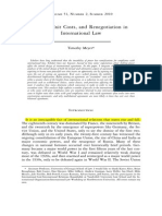 Power, Exit Costs, And Renegotiation in International Law