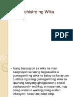 Ang Rehistro Ng Wika Pptx