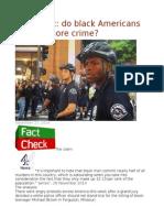 FactCheck Do Black Americans Commit More Crime