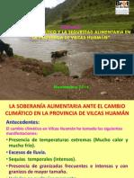 Cambio climático y la seguridad alimentaria en la provincia de Vilcas Huamán