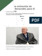 La Última Entrevista de Alberto Benavides Para El Comercio