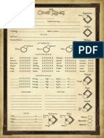 The One Ring Character Sheet
