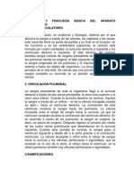 Anatomía y Fisiología Básica Del Aparato Circulatorio