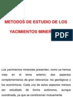 Metodos de Estudio de Los Yacimientos Minerales