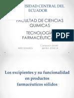 Excipientes farmaceuticas