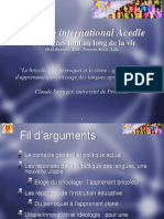 Colloque International Acedle