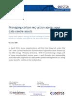 Managing carbon reduction across your data centre assets
