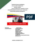 Plan de La Patria referente  a la informatica y tecnologia