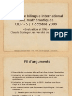 Séminaire Bilingue International DNL Mathématiques CIEP