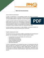 Matriz de Comunicaciones - Guia
