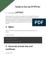 HTTPS Setup Guide