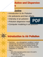 Air Pollution and Dispersion Models