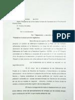 Carta Defensora Del Pueblo La Plata