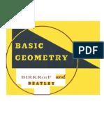 Birkhoff & Beatley. Basic Geometry