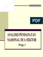 Analisis Pendapatan Nasional Dua Sektor