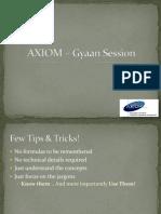 AXIOM _ Gyan Session