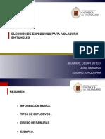 Tuneles excavacion con explosivos