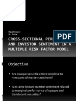 Cross-sectional Performance and Investor Sentiment