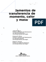 Fundamentos de Transferencia de Momento, Calor y Masa  5ta Edicion  James Welty