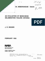 An Evaluation of Mixed-mode Delamination Failure Criteria