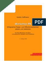 Workshop PR – erfolgreiche Presse- und Öffentlichkeitsarbeit planen und realisieren