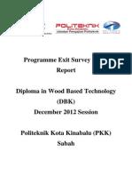 Report Exit Survey DIS 2012 DBK
