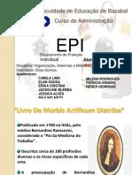 Apresentação de Trabalho de  EPI OSM