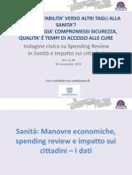Gli effetti della spending review sul servizio sanitario nazionale