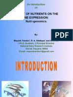 An Introduction on Nutrigenomics