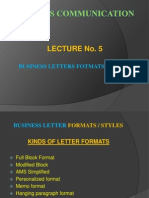 5. BUSINESS LETTERS FORMATS.pptx