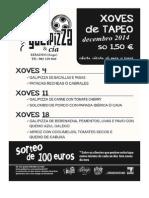 XOVES DE TAPEO NOVEMBRO GALIPIZZA RIBADEO