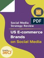 US E-commerce brands on Social Media