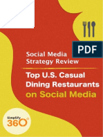 US Casual Dining Restaurants on Social Media