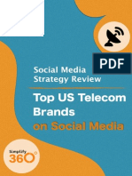 Top US Telecom brands on Social Media