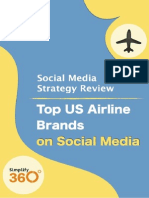 Top US Airline brands on Social Media