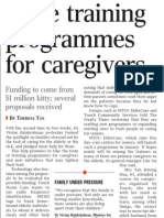 More training programmes for caregivers, 6 Nov 2009, Straits Times