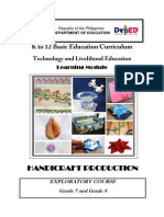 k to 12 Handicrafts Learning Module
