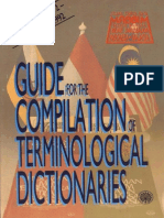 Guide for the Compilation of Terminological