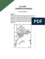 La L Llatina en El Diasistema Occitano-romanic - Artur Penella i Ramon