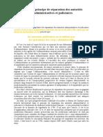 Autour Du Principe de Separation Des Autorites Administratives Et Judiciaires1200519811.1224531445