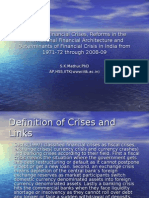 Models of Financial Crises and Reforms in The