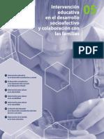 Intervención en el desarrollo sociafectivo  y con familias.