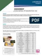 OIL Quality Assessment Transformer A41