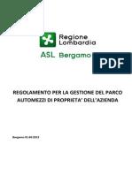 Approvazione Regolamento Automezzi ASL_REGOLAMENTO