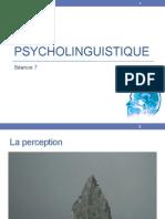Psycholinguistique - perception