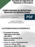 Arquitectura de Procesadores I - Unidad12 2013 - Computadores de Repertorio Reducido de Instrucciones